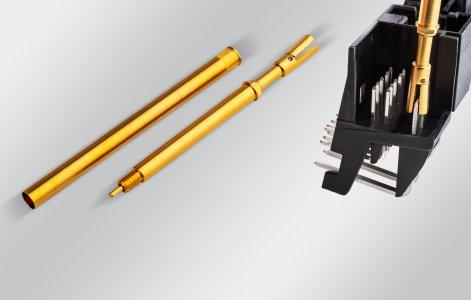 PTR HARTMANN Serie 1075/GV Kratzfreie, zuverlässige Kontaktierung von Flachsteckern mit hoher Stromstärke; Einsatz im Burn-In und Run-In Test; Übertragung hoher Ströme; Geringe Übergangwiderstände