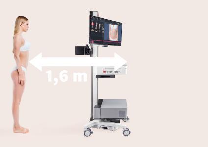 Hygienic examination distance with the FotoFinder bodystudio ATBM master