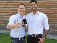 Die Studenten Dhiren Kandhari und Abdulmelik Su