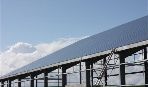 Kyocera Solar 267 kWp Solardach Loesung in Frankreich