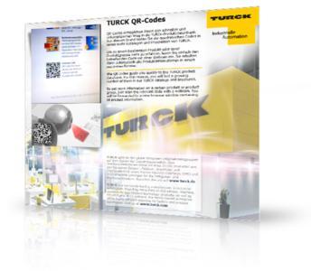 Mittels QR Codes in Printkatalogen gelangen TURCK Kunden einfach und direkt zu den detaillierten Produktinformationen in der TURCK-Produktdatenbank im Internet