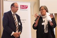 Rudi Kramer, BvD Vorstand mit Andrea Voßhoff, Bundesbeauftragte für den Datenschutz und die Informationsfreiheit  © BvD/Christina Denz