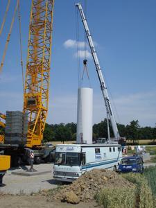 Baustelle Windpark Kirchberg