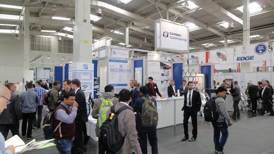 Im Mittelpunkt des Themas Leichtbau auf der Hannover Messe 2015 stand der Gemeinschaftsstand des Carbon Composites e.V..