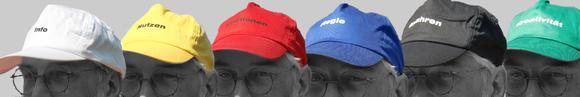 sechs Hüte