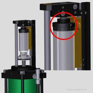 Hubregulierung mit 0,01 mm Skalenring
