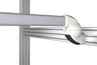 Für die vertikale Anwendung ist profiPLUS Wandgelenk smart konzipiert. Auch hier reicht eine Fläche von 33 x 44 mm für eine sichere Montage bereits aus / Bild: Rolec Gehäuse-Systeme GmbH