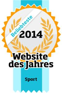 Beliebteste Website des Jahres der Kategorie Sport 2014