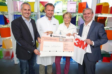 """3M und id4sports übergaben Spende an """"Aktion Luftballon"""""""