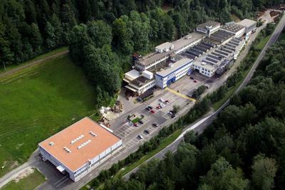 Das Firmengelände der Wolfensberger AG in Bauma/Schweiz