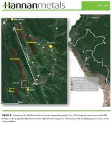 Hannan Metals skizziert Zink-Blei-Entdeckung auf San-Martin-Projekt in Peru die über einer Kupfer-Silber-Mineralisierung liegt