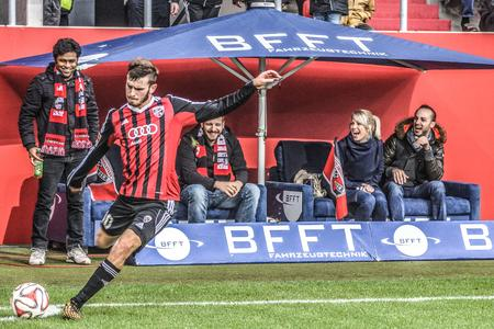The BFFT Fansofa at FC Ingolstadt enables BFFT employees Bundesliga games at the forefront