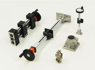 Klemmverbinder Konstruktionssystem und Verstelleinheiten auf Rohrbasis