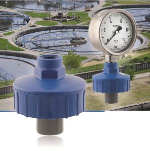 The new AFRISO MD 11 diaphragm seal is a highly reliable chemical seal system that can be used in conjunction with Bourdon tube pressure gauges or pressure switches in installations with waste water, fertilisers, corrosive media and a wide variety of chemicals