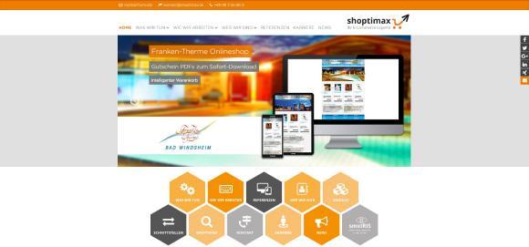 Die neue Website der shoptimax GmbH