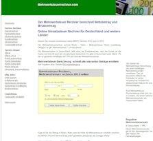 Mehrwertsteuer mit dem Mehrwertsteuer Rechner online berechnen