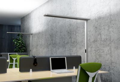 [Bild 1 - Bildunterschrift] LEDAXO LED-Stehleuchte SL-11-110 für die Ausleuchtung von 1 oder 2 Arbeitsplätzen