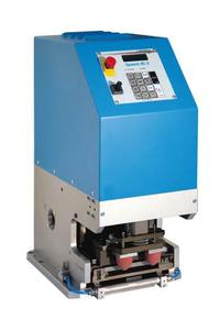 """""""Speed 40-2"""" integrated tampon printing machine Electro-mechanical drive Patent applied for"""