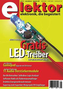 Elektor 09/2007 mit Gratis-LED-Treiber-Platine