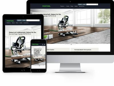 Internationale Festool Website  by netzkern und Sitecore