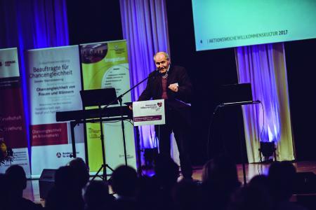 """Erfolgreiche Auftaktveranstaltung """"Aktionswoche Willkommenskultur"""" / Bildquelle: WHF GmbH"""