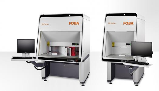 Laser workstations with rotary table: FOBA M2000-R and M3000-R