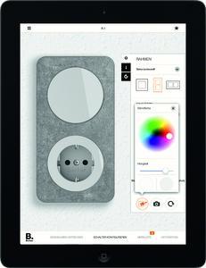 Mit der neuen Schalter-App lassen sich sämtliche Designvarianten aller Schalterserien von Berker beliebig kombinieren.