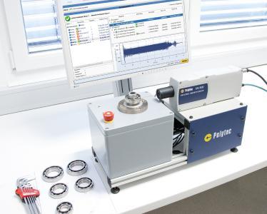 Akustische Prozess- und Qualitätskontrolle leicht gemacht: Industrievibrometer und leistungsfähige Prüfsoftware als Komplettlösung. (Urheber: Polytec)