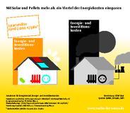 """Infografik """"Mit Solar und Pellets mehr als ein Viertel der Energiekosten einsparen"""""""