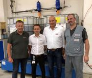 The team responsible for quickly achieving the company's goals (from left): Lutz Geweniger, Gehring; Stephan Ebeling, Oemeta; Peter Wachsmuth, HMH; Ralf Köppl, Gehring.