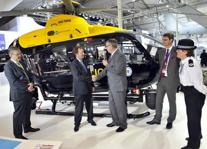 Eurocopter hands over new EC135 to West Midlands Police Air Support Unit