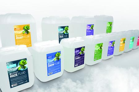 Haze, fog, snow and bubbles made in Germany - Cameo now features professional fluids in their product range