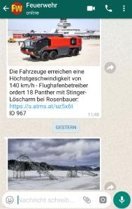 Screenshot FEUERWEHR-WhatsApp-Newsletter