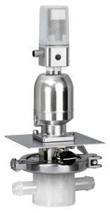 SUMONDO with pneumatic actuator and GEMÜ 1434 controller