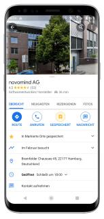 novomind bietet Google's Business Messages an
