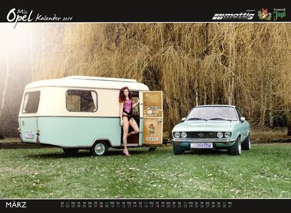 Mattig Miss Opel Kalender März