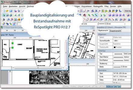Bauplandigitalisierung und Bestandsaufnahme mit RxSpotlight PRO R12.7