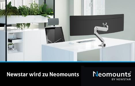 Aus NewStar wird ab 01.06.2021 Neomounts by NewStar