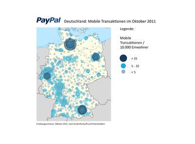 PayPal Deutschland: Mobile Transaktionen im Oktober 2011