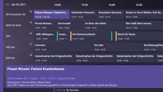 Amazon FireTV kann auch LiveTV - aber nur mit der kostenlosen App von DVBLogic TV Mosaic