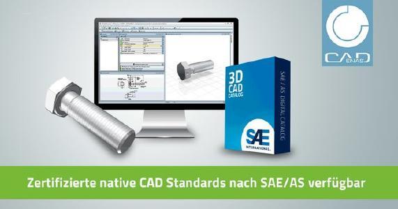 Zertifizierte native CAD Standards nach SAE/AS: 3D Modelle von Komponenten für Dassault SOLIDWORKS