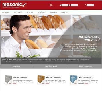 mesonic webseite
