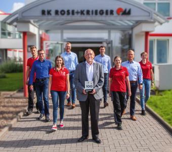 """Innovations-Champion: RK Rose+Krieger beeindruckt unter den TOP 100 Innovatoren mit mehr als 200 Mitarbeitern in Deutschland besonders in den Kategorien """"Außenorientierung/Open Innovation"""" und """"Innovationsklima""""."""