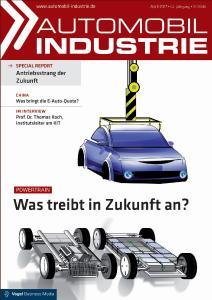 """In der Ausgabe 4 beleuchtet das Fachmedium """"Automobil Industrie"""" die Potenziale bestehender und künftiger Antriebsformen, Quelle: Vogel Business Media"""
