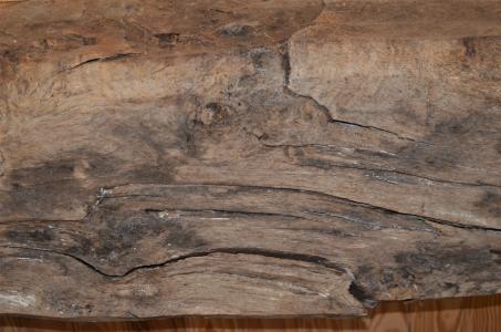 Vor 250 Jahren wurde dieser Querträger aus Eichenholz auf Le Tertre Ychot verbaut. Er ist in unbehandeltem Zustand bis heute statisch funktionstüchtig geblieben. Foto: Achim Zielke