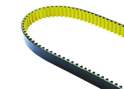 The CONTI® SYNCHROCHAIN CARBON polyurethane heavy-duty timing belt with carbon tensile member makes possible efficient drive solutions, Photo: ContiTech