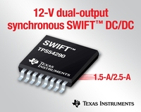 TI introduces industry's first 12-V dual-channel synchronous buck converter with integrated FETs
