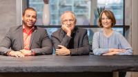 Jasper Dehner, Ulrich Dehner und Alice Dehner, Geschäftsführer der dehner academy