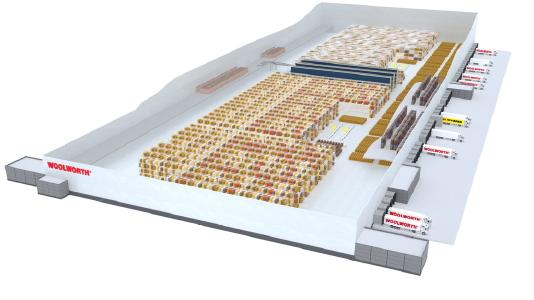 SSI Schaefer was awarded the contract for implementing the new central warehouse of Woolworth in Unna, Germany.