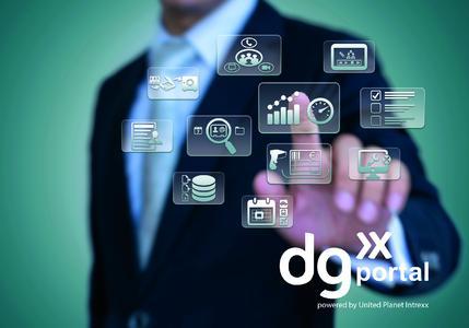 """""""dg portal"""" vereint als Unternehmensportal verschiedenste Business-Applikationen © United Planet GmbH"""